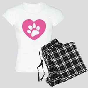 Heart Paw Print Women's Light Pajamas