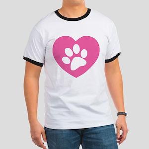 Heart Paw Print Ringer T