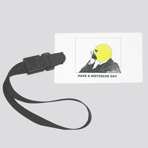 Nietzsche Large Luggage Tag