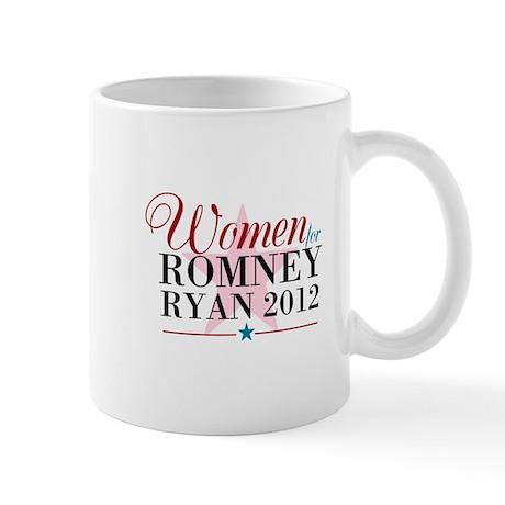 Women for Romney Ryan 2012, Pink/Blue Mug