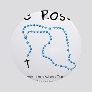The Power of the Rosary Ornament (Round)