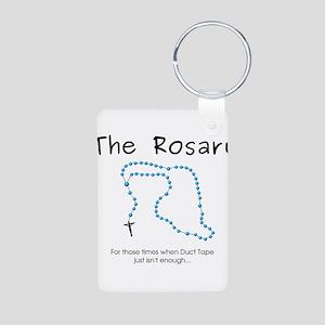 The Power of the Rosary Aluminum Photo Keychain