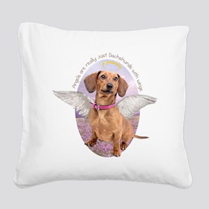 angelwithwings Square Canvas Pillow