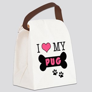 dogboneILOVEMY Canvas Lunch Bag