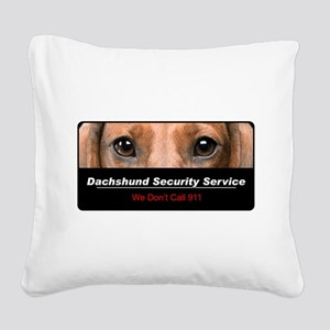 security Square Canvas Pillow