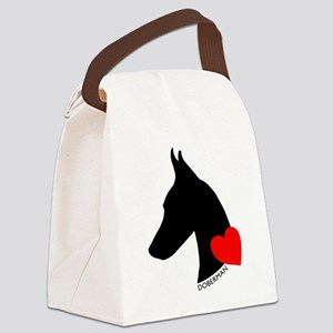 heartsilhouette Canvas Lunch Bag