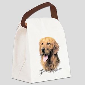 scriptgolden Canvas Lunch Bag