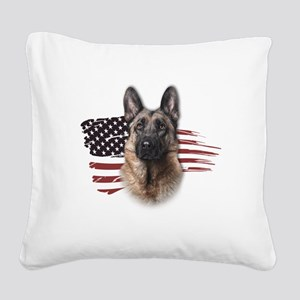 usa Square Canvas Pillow