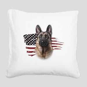 usa Square Canvas Pillow