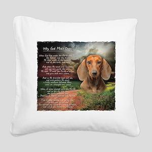 godmadedogs Square Canvas Pillow