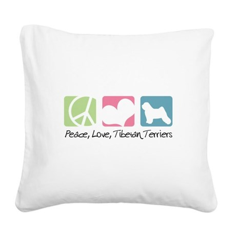 peacedogs.png Square Canvas Pillow