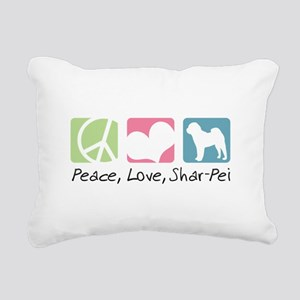 peacedogs Rectangular Canvas Pillow