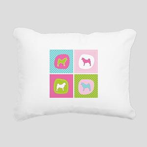 colorblock3 Rectangular Canvas Pillow