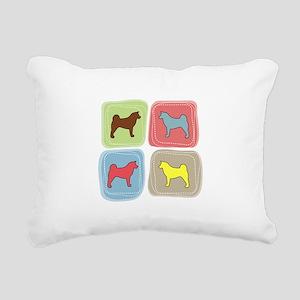 colorblock Rectangular Canvas Pillow