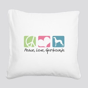 peacedogs Square Canvas Pillow