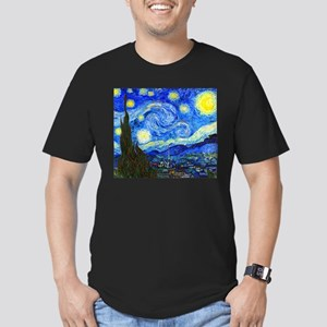 Van Gogh - Starry Night Men's Fitted T-Shirt (dark