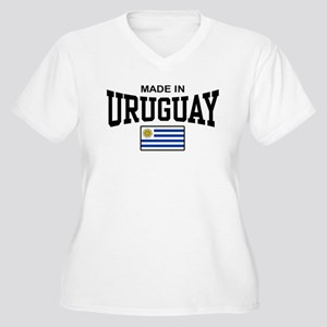 Made In Uruguay Women's Plus Size V-Neck T-Shirt