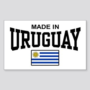 Made In Uruguay Sticker (Rectangle)
