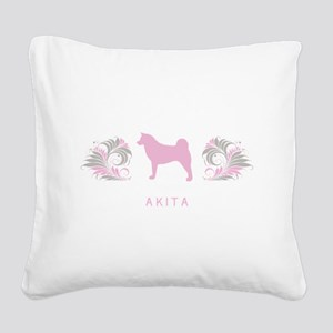 10-pinkgray Square Canvas Pillow