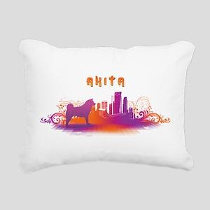 3-citydog Rectangular Canvas Pillow