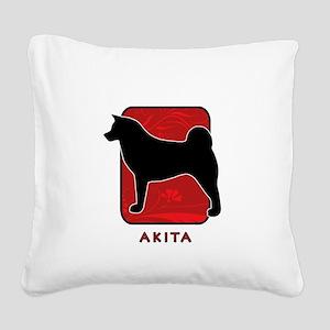 4-redsilhouette Square Canvas Pillow
