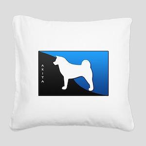 2-blueblack Square Canvas Pillow