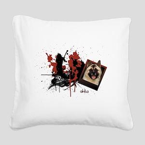 akita Square Canvas Pillow