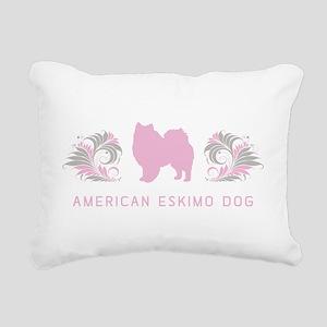 21-pinkgray Rectangular Canvas Pillow