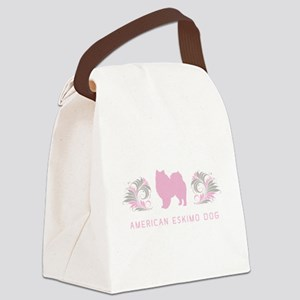 21-pinkgray Canvas Lunch Bag