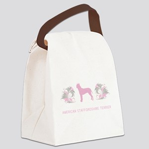 15-pinkgray Canvas Lunch Bag