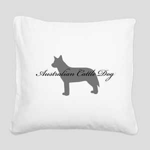 11-greysilhouette Square Canvas Pillow