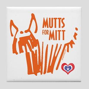 Mutts for Mitt by VampireDog Tile Coaster