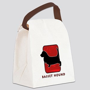 13-redsilhouette Canvas Lunch Bag