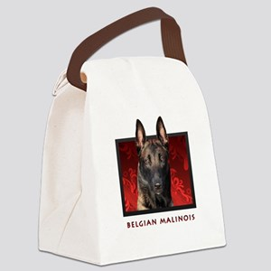 10-redblock Canvas Lunch Bag
