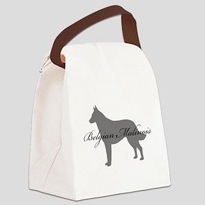 18-greysilhouette Canvas Lunch Bag