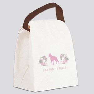 19-pinkgray Canvas Lunch Bag