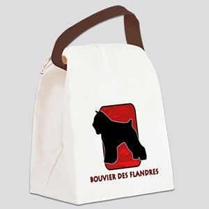 23-redsilhouette Canvas Lunch Bag