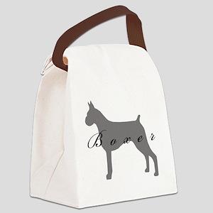 40-greysilhouette Canvas Lunch Bag