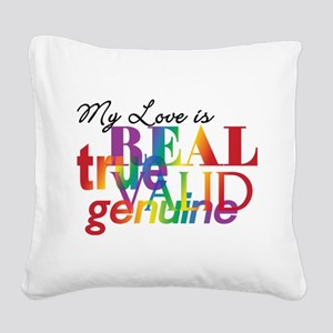 rainbow-love-real_tr Square Canvas Pillow