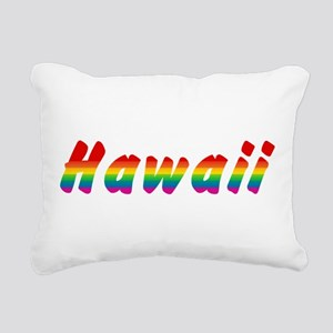 hawaii-rbw-txt Rectangular Canvas Pillow