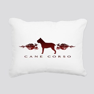 flames Rectangular Canvas Pillow