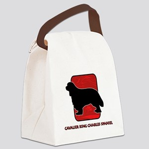 3-redsilhouette Canvas Lunch Bag
