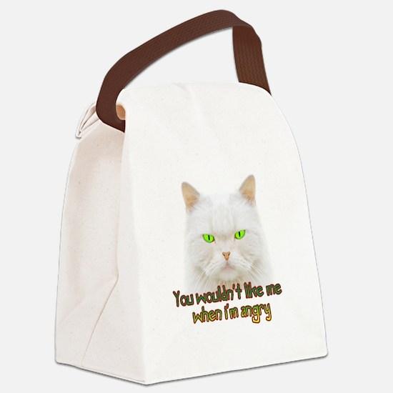 Hulk Kitty Canvas Lunch Bag