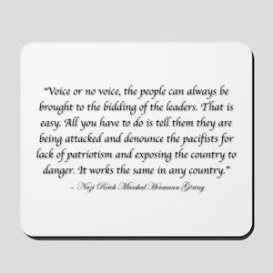 Voice or no voice Mousepad
