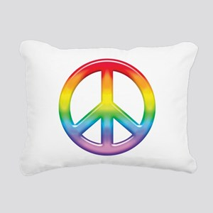 rainbow_peace Rectangular Canvas Pillow