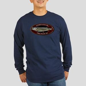 Long Sleeve Dark Northern Pike T-Shirt