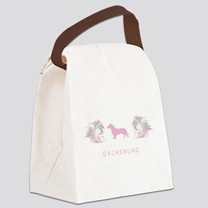 10-pinkgray Canvas Lunch Bag