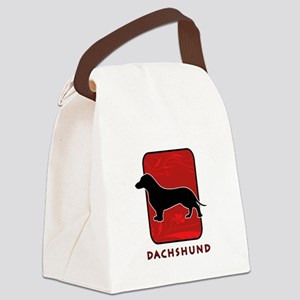 11-redsilhouette Canvas Lunch Bag
