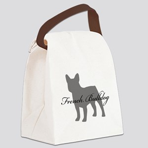 greysilhouette2 Canvas Lunch Bag