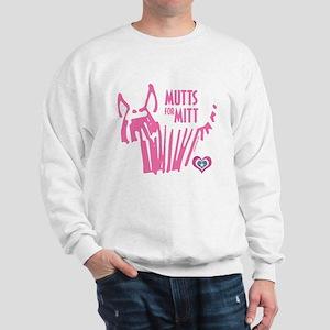 Mutts for Mitt Pink by VampireDog Sweatshirt